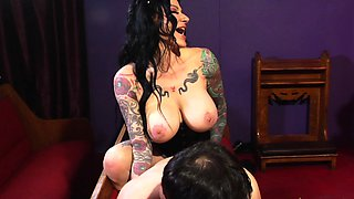 Witchy Jen Jexxxx pegs Alter Boy Marvelo with a giant BBC