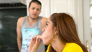 Family food party ends in taboo fuck with stepbrother