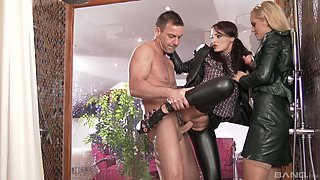 Sophie Lynx and Vanda Lust are dressed sluts ready to be plowed