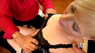 Samantha White - Skinny Milf Gangbang Porn Video