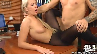 russian blonde in pantyhose 2