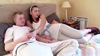 Brother And Step-sister Get First Fuck Together