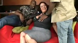 Latina Wife Gets DPed By Two Big Black Cocks