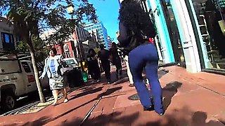 Amateur ebony ladies with fabulous asses outdoor compilation