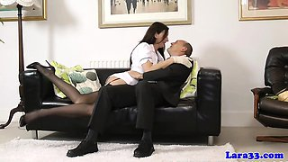 British mature nurse fingered in pussy