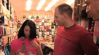 Czech brunette cheats with BF's brother