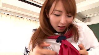 Hottest Japanese chick in Amazing JAV censored Fingering, Hairy scene