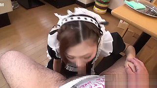 Submissive Young Maid Swallows