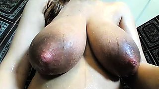 Milf with big nipples plays her breast milf webcam porn