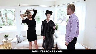 FamilyStrokes - Hot Stepmom Rides Stepsons Long Johnson