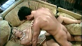 Busty and lean blonde milf banged in doggy style position