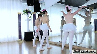 Redhead comrade and naked twister party first time Ballerina