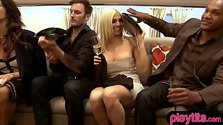 Real amateur couples try foursome at a swinger party