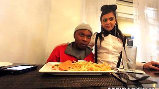 Italian Waitress Served By BBC