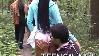 Innocent teen in a hot scene