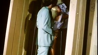 Skinny young man fucks insatiable blondie on the bed