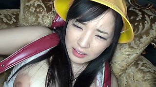 Fabulous Japanese model in Crazy Toys, HD JAV scene
