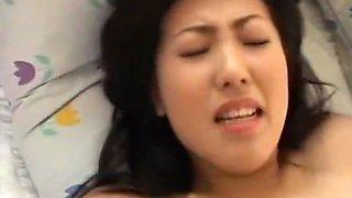 Exotic Japanese chick Sumomo Yozakura, Misaki Gotoh, Emi Ohhashi in Horny 69, Cunnilingus JAV movie
