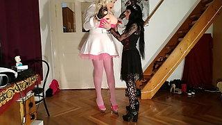 Goth dominatrix abuses and fucks huge living barbie doll pt1 HD