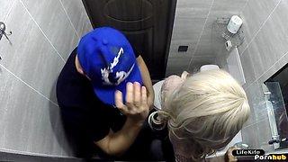 FUCKED GIRLFRIEND IN THE TOILET OF a NIGHTCLUB, HIDDEN CAMERA