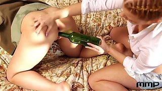 Drunk Girls Play Bottle Game - Chrissy Fox