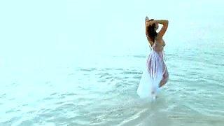 Clip porno de fabuleux plage, gros seins