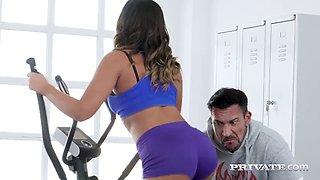 Private.com big butt latina briana banderas rides gym cock