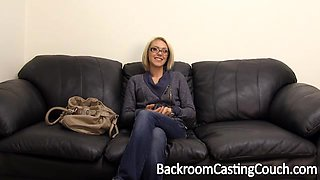 Nasty blondie is ready for anal fuck