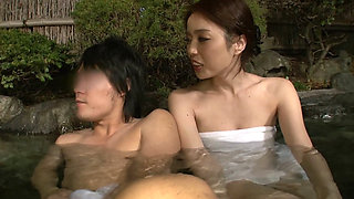Brother And Sister In A Japanese Onsen Spa