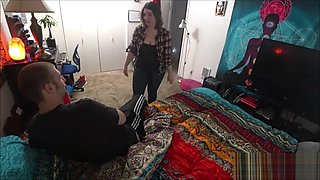 My Sister Caught Me Jerking Off In Her Room With Her Panties