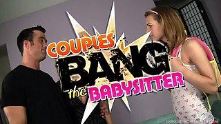 Wild Couple Seduces the Babysitter