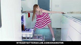 mybabysittersclub - babysitter gets hand stuck in sink and f
