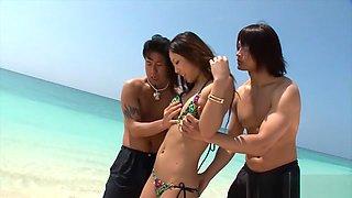 Horny Japanese model in Amazing Beach, Natural Tits JAV movie