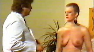 Vintage video of bold slave with pierced nipples and pussy