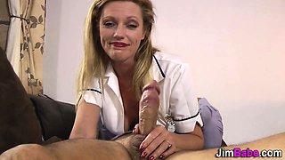 Jizz euro nurse rides old