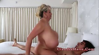 energetic milf gets oiled up and bounces on the cock