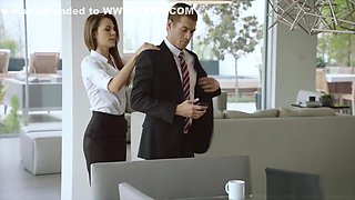 Naughty secretary assfucked by her boss