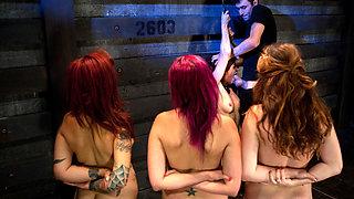4 Girl AuditionsSexual Testing - TheTrainingofO