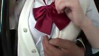 schoolgirl creampie fucked by bus geek