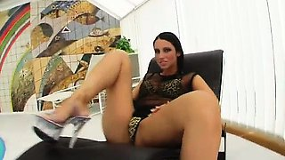 After some anal milk squirting this cute brunette gets her