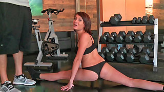 Super hot workout session with two nasty sluts