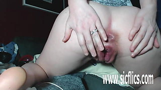 Double fisting Alexis pregnant greedy pussy