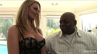 Aline Gets On Top To Ride Lovers Black Dick While Rubbing Clit