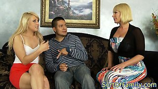 Real stepdaughter cumsprayed in threesome