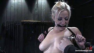 bondage fun with a smoking hot blonde with big natural tits