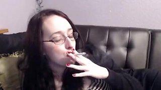 Amazing homemade Smoking, Brunette sex video