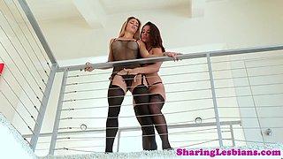 stockinged lesbian sixtynines dyke beauty