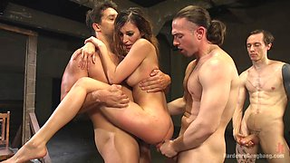 Moka Mora craves for a double penetration deep inside her wet holes