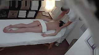 Young Brunette Fucks The Massage