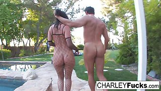 Charley Chase in Charley Gets Her Fuck On Out By Her Pool - CharleyChase